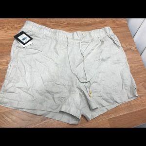 Ellen Tracy soft casual shorts khaki size xxl new